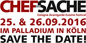 CHEFSACHE Köln 2016 - save the date!